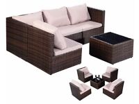 **FREE UK DELIVERY** Fully Adjustable Rattan Outdoor Garden Furniture Sofa Set- BRAND NEW!
