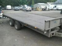 Ifor williams flat bed trailer 16x7. No vat