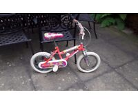 "Kids 14"" bicycle with cycle helmet included"