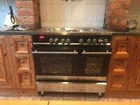 Black Kenwood range cooker