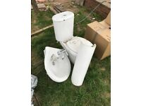 Good condition bath sink and toilet working order
