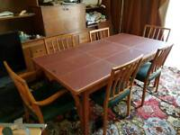 Archie Shine Vintage Dinner Table and 6 Chairs