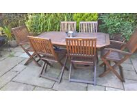 Robert Dyas Table and Chairs also includes 6 covers not shown