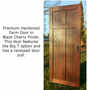Solid Wood Interior premium farm style door in solid ash