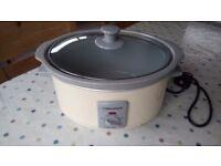 3.5l cream morphy Richards slow cooker £10