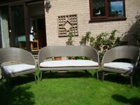 sofa and chairs suitable for conservatory or outdoor use