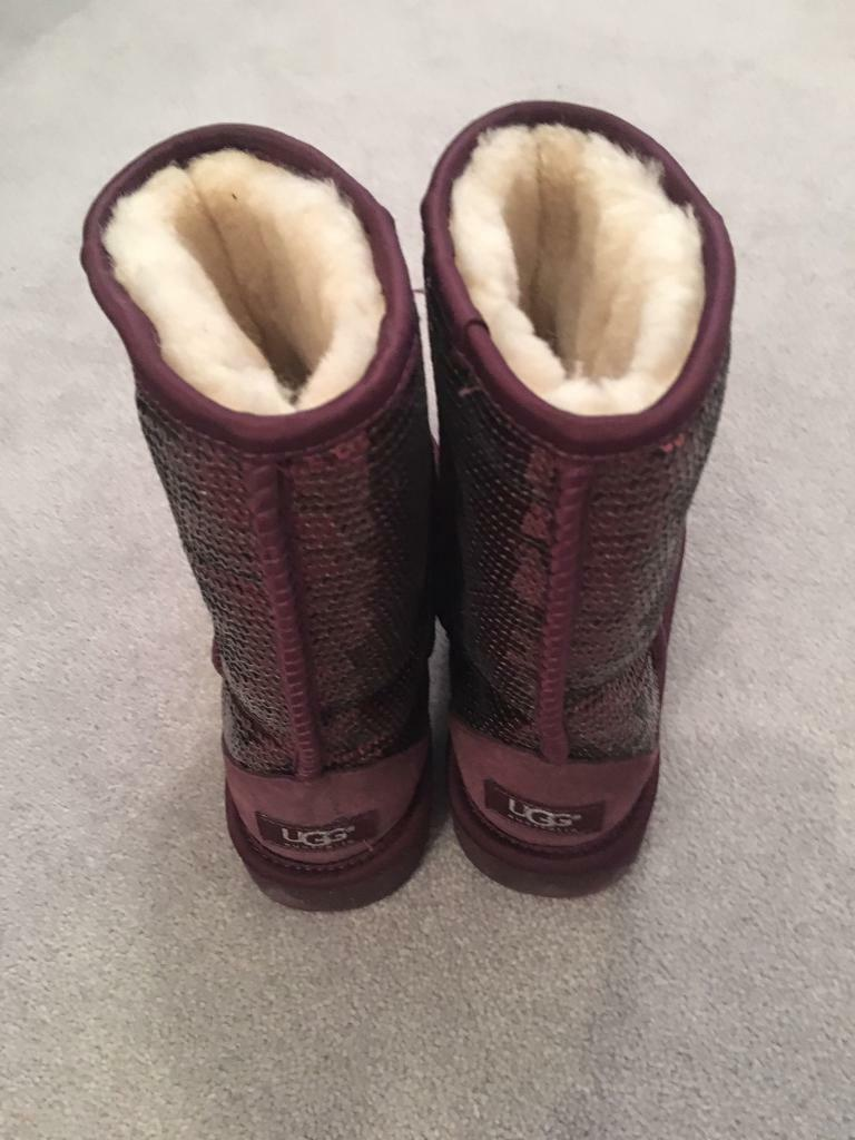 UGG sparkle boots size 5