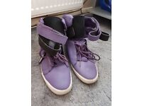 Mens size 13 purple supra high top trainers
