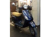 VESPA LX50 - 2012 - 6840 miles - Royal Blue - recent MOT - bike accessories