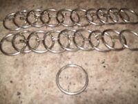 CURTAIN RINGS 20 SATIN SILVER