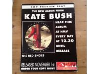Kate Bush The Red Shoes promotional card poster