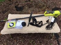Corded Ryobi 1000W Brush Cutter and Grass Trimmer
