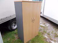 Wood office cupboard in vgc