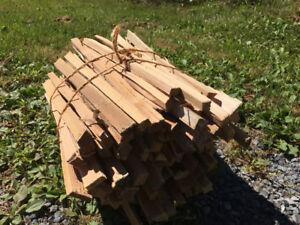 Dry cedar kindling