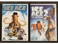 CE AGE & ICE AGE 2 THE MELTDOWN DVD - PERFECT CONDITION