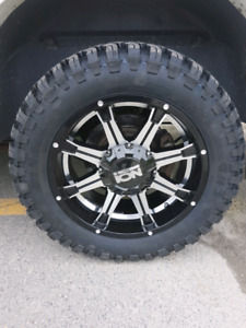 Full set of ION Black Machine rims & Minerva Ginell tires