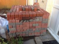 Free to anyone, approx 840 Red Permeable Block Paviours
