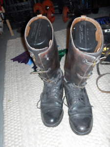 English Style Leather Riding Boots and English Style Spurs