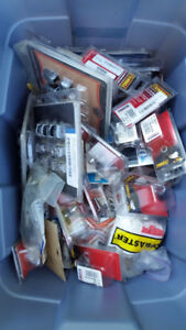 box of new & used HD parts