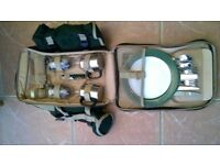 A Brand New Two Person, Green Picnic Backpack As Pictured.