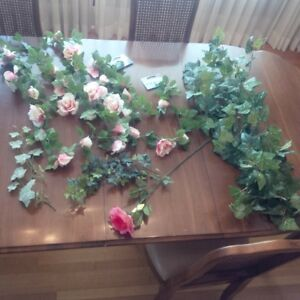 Artificial flowers and garlands