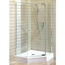 Complete Maax angle shower unit