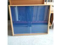 Nobo notice display case in beech