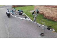 Boat trailer DeGraff twin axle braked very good condition