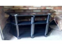TV stand - black, good condition