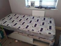 Single divan bed and mattress frer