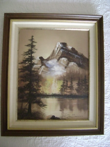 Mt Whyte and Lake Louise by Jonn Einerssen (signed)