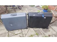 Two Equator Hard Shell Suitcases (1 Grey and 1 Black)