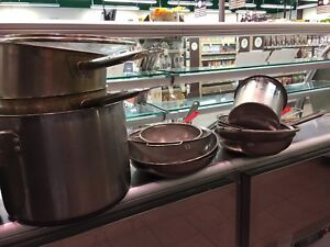 pots and pans w lids  (the whole lot)