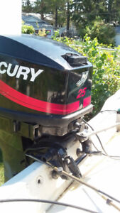 Outboard Motor, ( 2001) Mercury 25EL Electric - Remote control