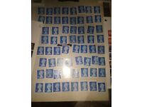 1st and 2nd class stamp unfranked FV £100