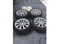 MAKE ME AN OFFER! lexus alloy wheels tyres 5x114.3 is civic drift jap accord honda 225/45/17 alloys