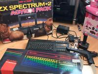 Sinclair zx Spectrum with action pack, light pen & games