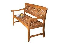 Top quality Heavy Robert Dyas Hard wood wooden garden bench, furniture BNIB