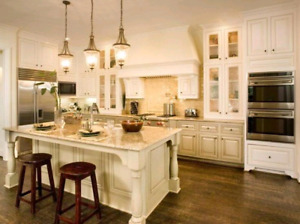 High end raised panel wood cabinets