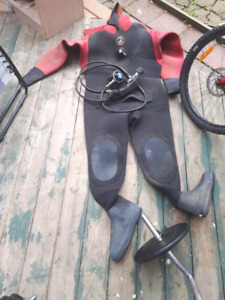 Drysuit and regulator