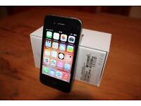 ***APPLE IPHONE 4 MOBILE, BLACK, UNLOCKED TO ANY NETWORK + ORIGINAL BOX + USB PLUG/LEAD***