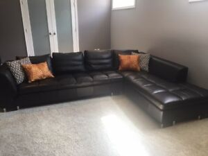 Mobital Black Sectional Couch- LIKE NEW!!