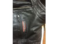 Child's leather biker jacket