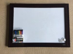 White board with Magnets and Dry erase markers