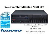Lenovo ThinkCentre M58 SFF PC 2.5GHz Intel Pentium Dual Core - 4GB RAM - No HDD