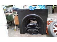 cast iron fire place complete with grate in very good condition call 07515477305