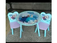 Disney Frozen Table and 2 Chairs