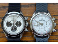 2 x Universal Geneve Manual Wind Chronograph Watches - Swiss Made - Superb Condition - Very Rare