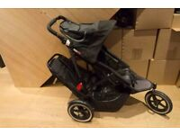 Phil & Ted's Sport Double Buggy in Black
