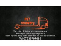 Car recovery breakdown transports